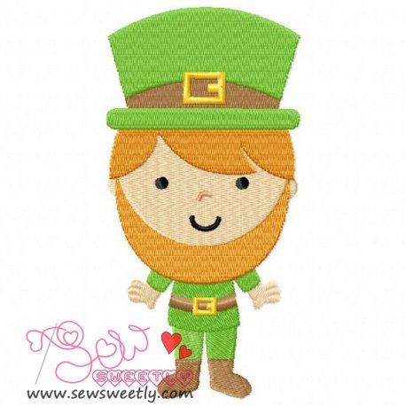 St. Patrick's Day Boy Embroidery Design Pattern- Category- St. Patrick's Day Designs- 1