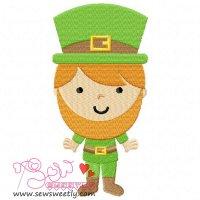 St. Patrick's Day Boy Embroidery Design