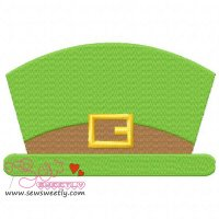 St. Patrick's Leprechaun Hat Embroidery Design