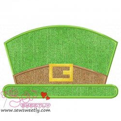 St. Patrick's Leprechaun Hat Applique Design