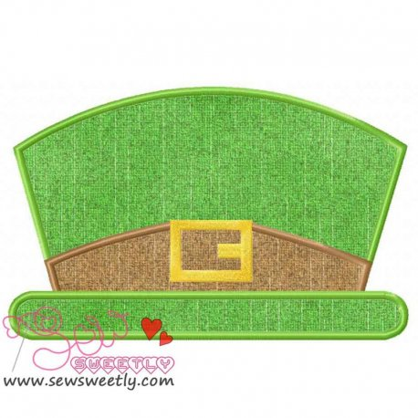 St. Patrick's Leprechaun Hat Applique Design Pattern- Category- St. Patrick's Day Designs- 1