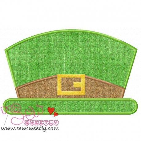 St. Patrick's Leprechaun Hat Applique Design