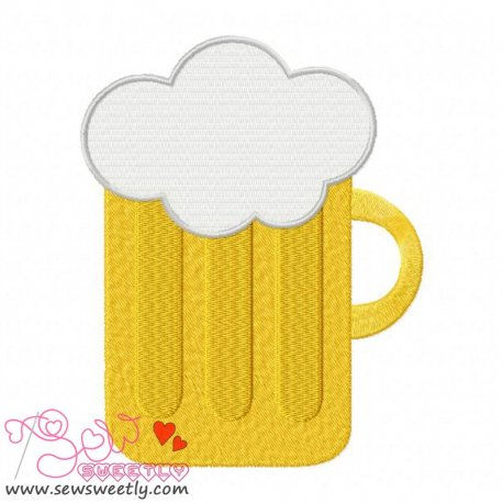 St. Patrick's Day Beer Embroidery Design Pattern- Category- St. Patrick's Day Designs- 1