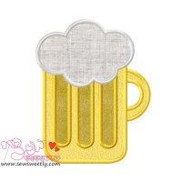 St. Patrick's Day Beer Applique Design