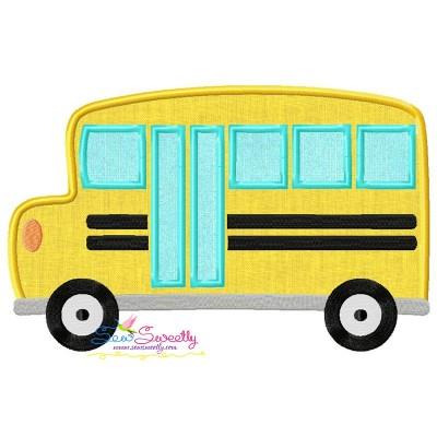 School Bus-2 Applique Design Pattern- Category- Back To School Designs- 1
