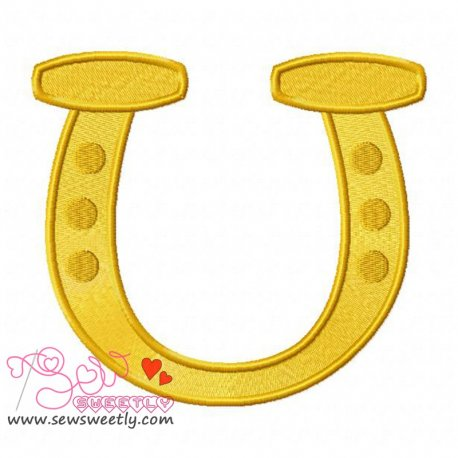 St. Patricks Day Good Luck Horseshoe Embroidery Design