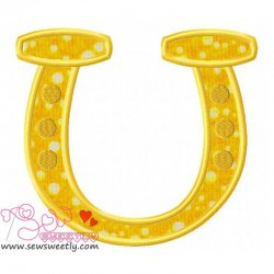 St. Patrick's Day Good Luck Horseshoe Applique Design