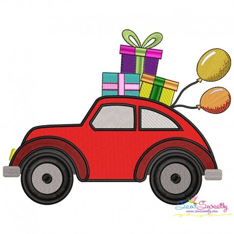 Birthday Gifts Car-1 Embroidery Design