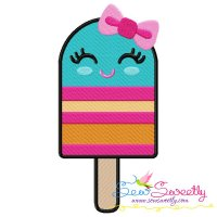 Girl Popsicle Embroidery Design