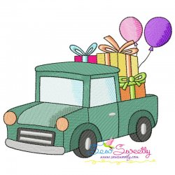 Birthday Gifts Car-2 Embroidery Design