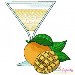 Mango Juice Glass Embroidery Design Pattern- Category- Summer And Spring Season- 1