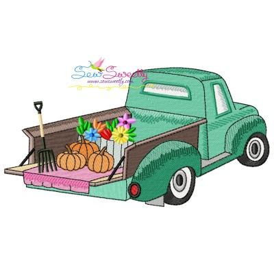 Farmer Truck-4 Embroidery Design Pattern- Category- Transportation Designs- 1