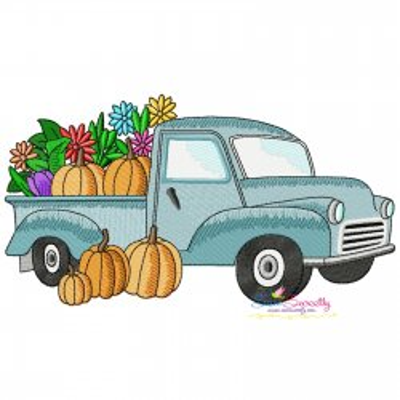Farmer Truck-3 Embroidery Design Pattern- Category- Transportation Designs- 1