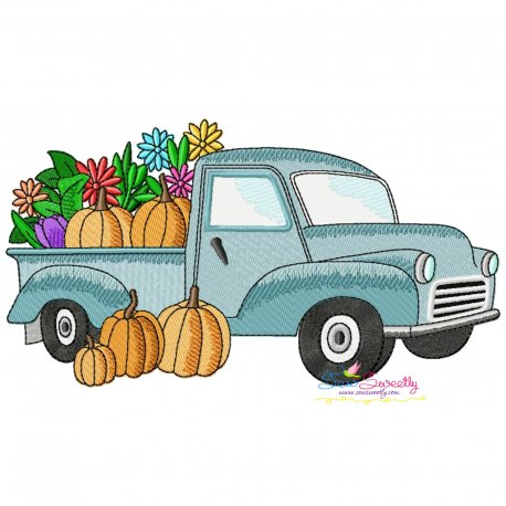 Farmer Truck-3 Embroidery Design