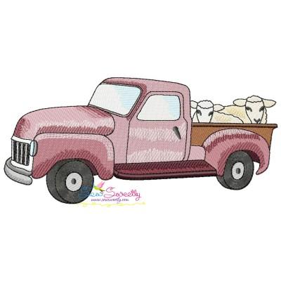 Farmer Truck-2 Embroidery Design