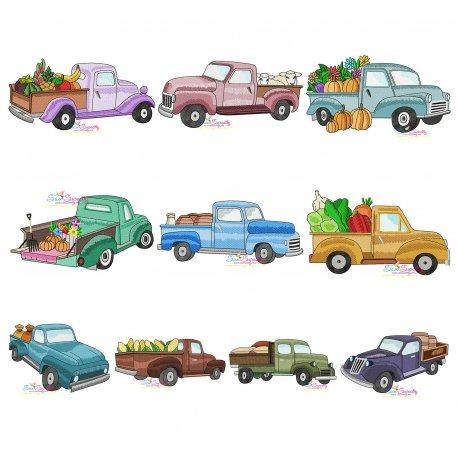 Farmer Truck Embroidery Design Bundle Pattern- Category- Embroidery Design Bundles- 1