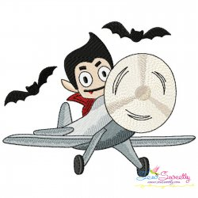 Halloween Aircraft-10 Embroidery Design
