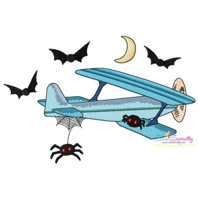 Halloween Aircraft-5 Embroidery Design