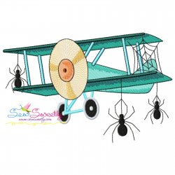Halloween Aircraft-3 Embroidery Design