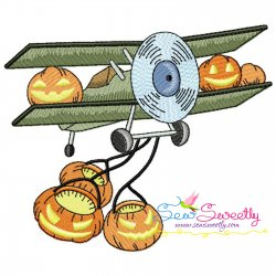 Halloween Aircraft-2 Embroidery Design