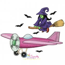 Halloween Aircraft-1 Embroidery Design
