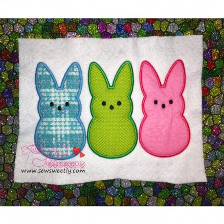 Cute Peeps Applique Design For Easter And Kids