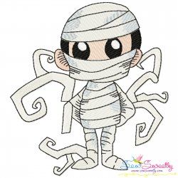 Halloween Mummy Embroidery Design