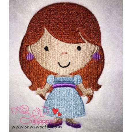 Cute Classic Princess 02 Embroidery Design
