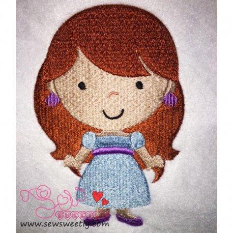 Cute Classic Princess 02 Embroidery Design