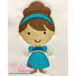 Classic Princess 03 Embroidery Design