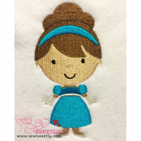 Cute Classic Princess 03 Embroidery Design