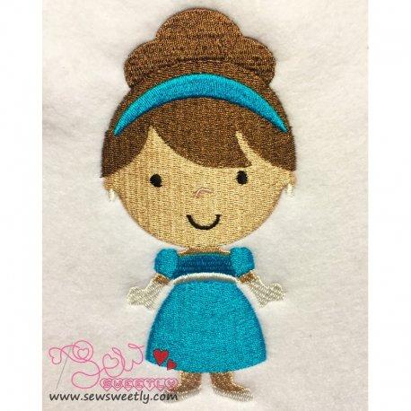 Cute Classic Princess 03 Embroidery Design