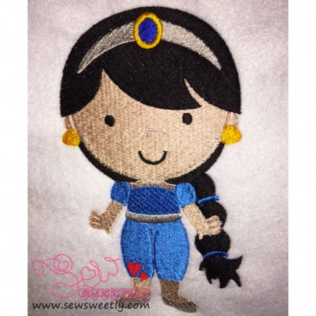 Cute Classic Princess-9 Embroidery Design