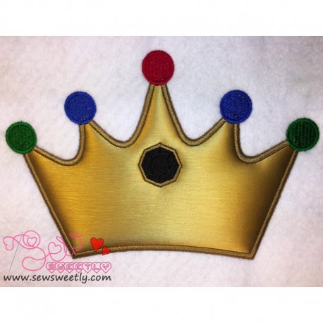 Beautiful Crown Applique Design