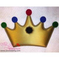 Crown Applique Design