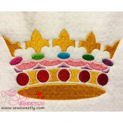 Crown-1 Embroidery Design