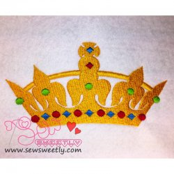 Crown-2 Embroidery Design