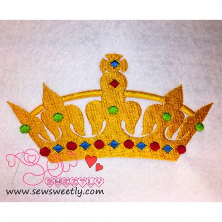 Beautiful Crown-2 Embroidery Design
