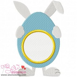 Bunny Monogram Embroidery Design