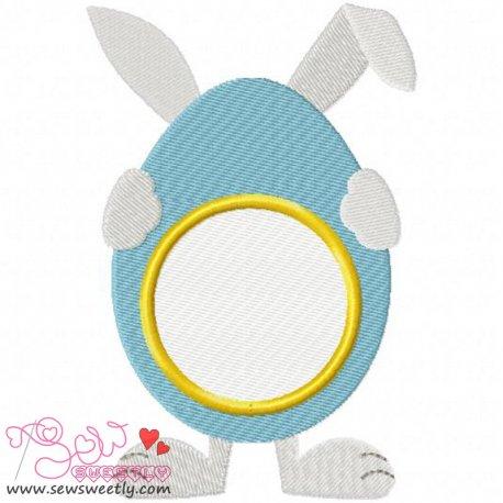 Cute Bunny Monogram Embroidery Design