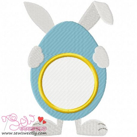 Cute Bunny Monogram Embroidery Design