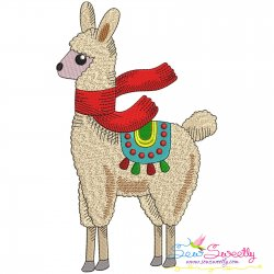 Christmas Llama-10 Embroidery Design