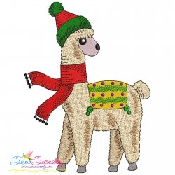 Christmas Llama-9 Embroidery Design