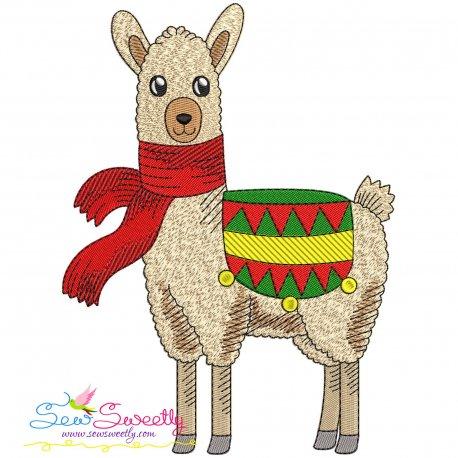 Christmas Llama-8 Embroidery Design
