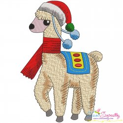 Christmas Llama-7 Embroidery Design