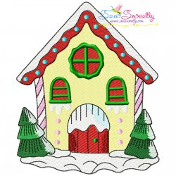 Christmas House-5 Embroidery Design