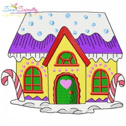 Christmas House-4 Embroidery Design