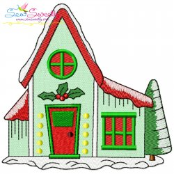 Christmas House-3 Embroidery Design
