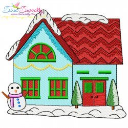Christmas House-2 Embroidery Design