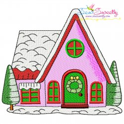 Christmas House-1 Embroidery Design